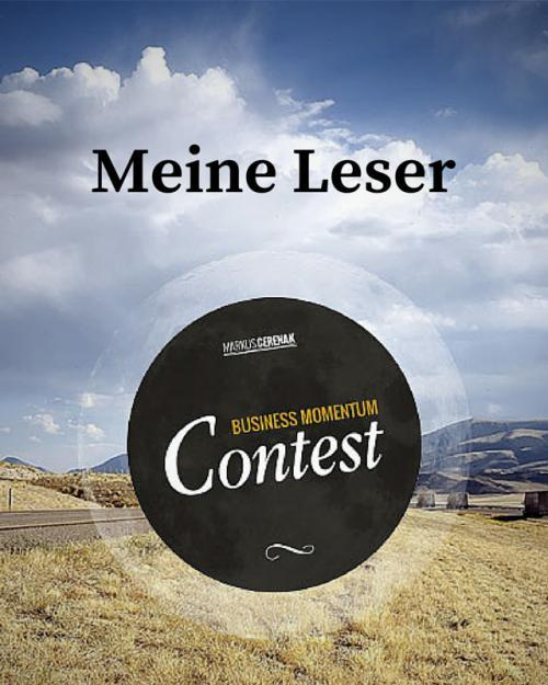 Business Momentum Contest - Meine Leser