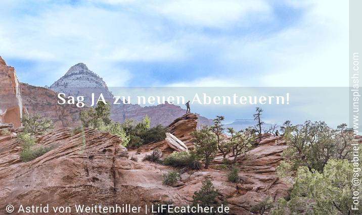 Ja-Sager: Sag JA zu neuen Abenteuern. • Design by Astrid von Weittenhiller