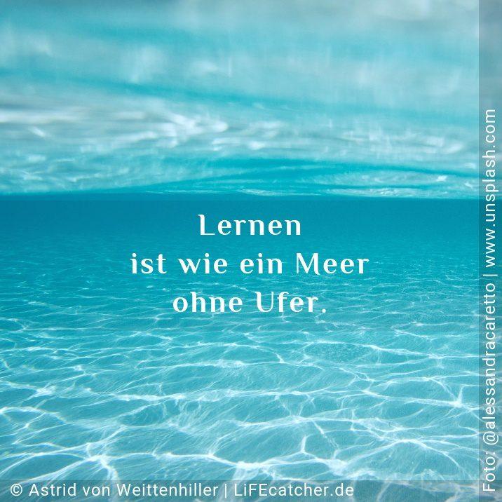 Lernen ist wie ein Meer ohne Ufer • Design by Astrid von Weittenhiller